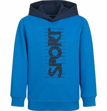 Bluza z kapturem dla chłopca, sport, niebieska, 2-8 lat C03C005_1