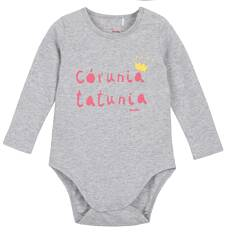 Body z długim rękawem dla niemowlaka N62M009_1