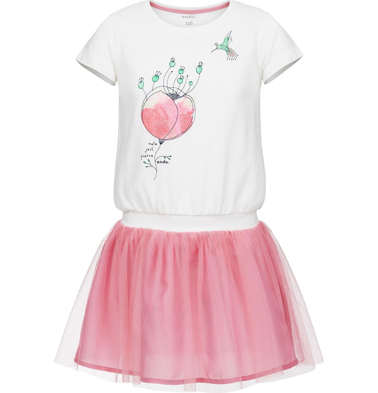 Endo - Sukienka z krótkim rękawem dla dziewczynki 3-8 lat D91H075_1