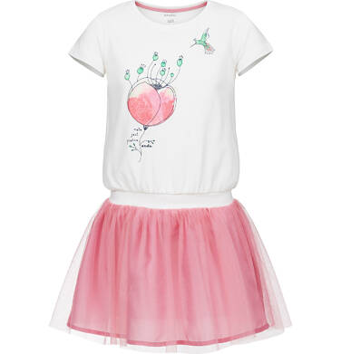 Sukienka z krótkim rękawem dla dziewczynki 3-8 lat D91H075_1