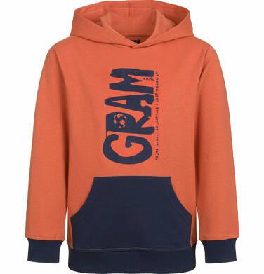 Endo - Bluza z kapturem dla chłopca, gram, z kieszenią typu kangur, pomarańczowa, 2-8 lat C03C006_1 13