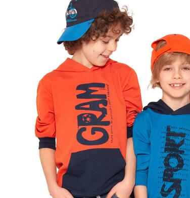 Endo - Bluza z kapturem dla chłopca, gram, z kieszenią typu kangur, pomarańczowa, 2-8 lat C03C006_1,3