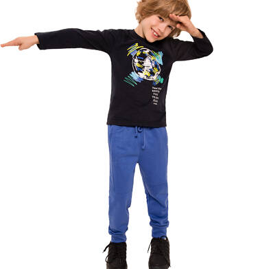 Endo - Spodnie dresowe dla chłopca, niebieskie, 3-8 lat C92K012_2