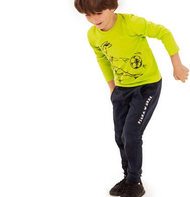 Spodnie dresowe dla chłopca, granatowe, 3-8 lat C92K012_1