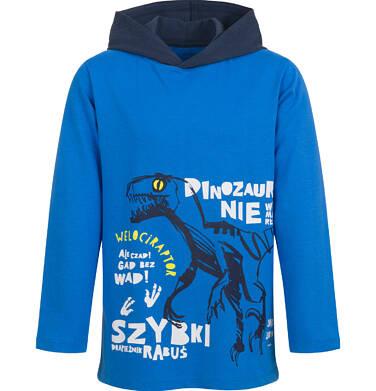 Endo - T-shirt z długim rękawem i kapturem dla chłopca, niebieski, 9-13 lat C04G168_1,1