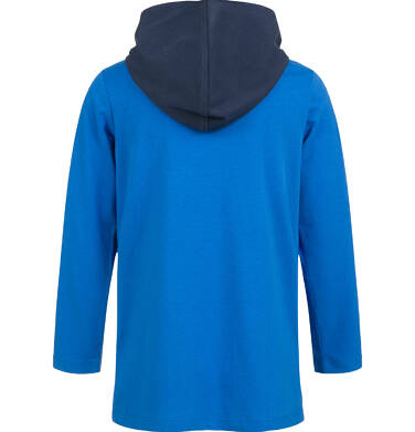 Endo - T-shirt z długim rękawem i kapturem dla chłopca, niebieski, 9-13 lat C04G168_1,2