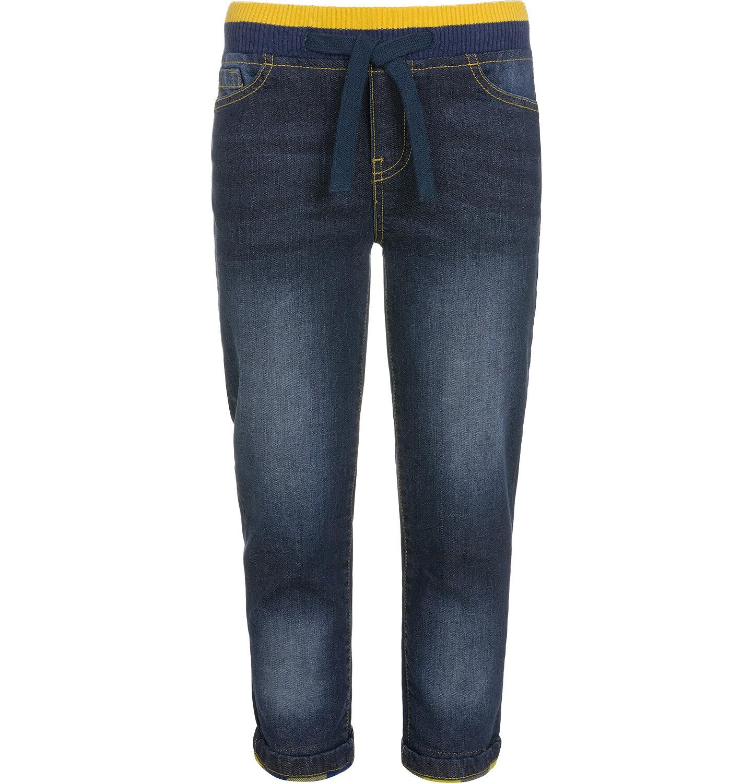 Endo - Spodnie jeansowe ze ściągaczami dla chłopca 3-8 lat C92K003_1