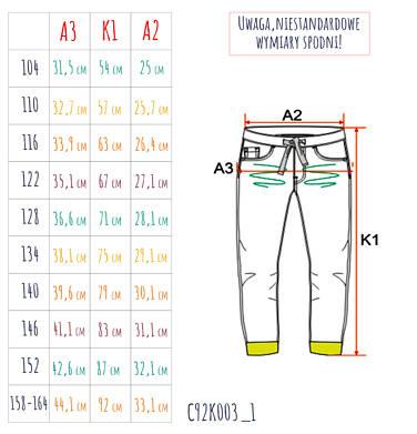 Endo - Spodnie jeansowe ze ściągaczami dla chłopca 3-8 lat C92K003_1,3