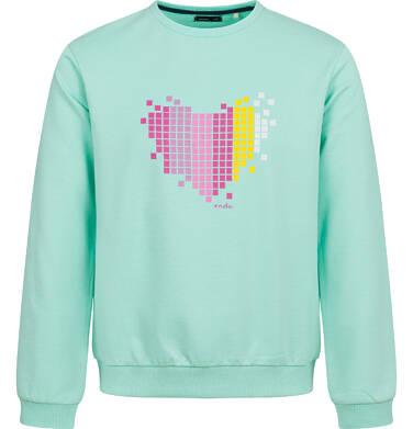 Bluza z sercem dla dziewczynki, niebieska, 2-8 lat D04C008_1