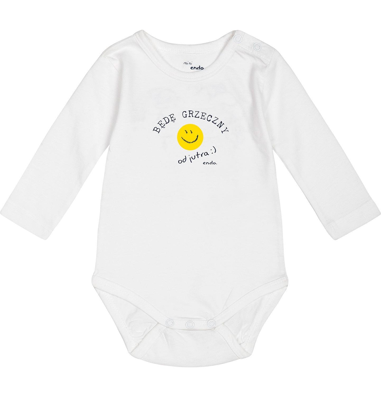 """Endo - """"Będę grzeczny od jutra"""" Body dla niemowlaka 3-24 m-ce N82M039_1"""