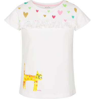 T-shirt z krótkim rękawem dla dziewczynki 9-13 lat D91G601_1