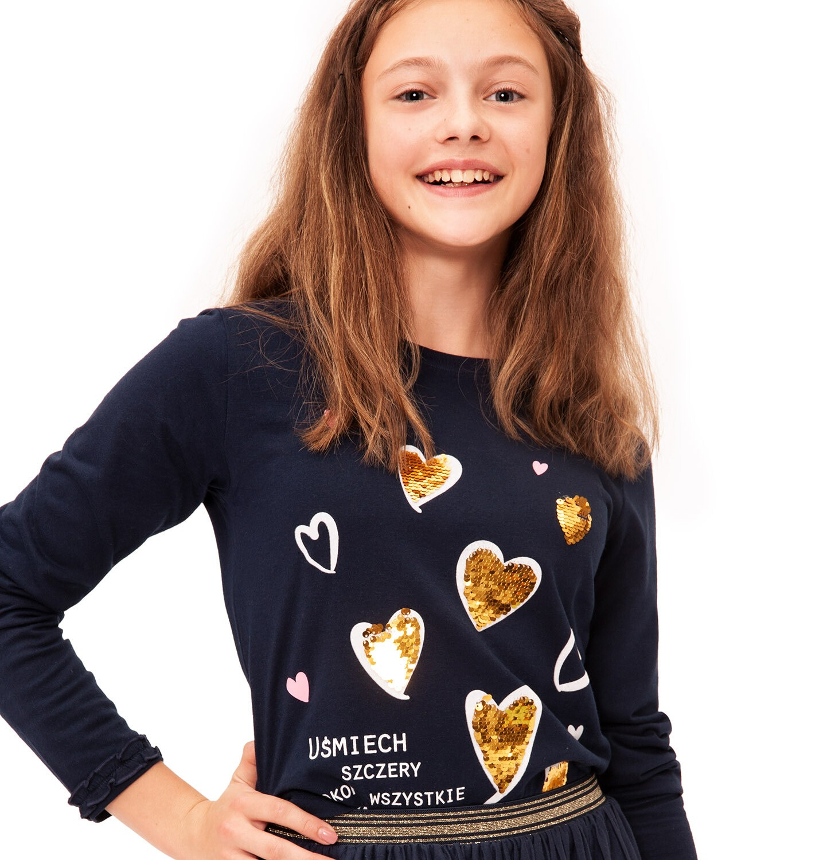 Endo - Bluzka z długim rękawem dla dziewczynki 9-13 lat D92G535_2
