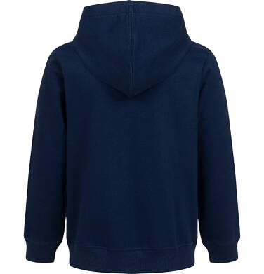 Endo - Rozpinana bluza z kapturem dla chłopca, z tygrysem, granatowa, 2-8 lat C05C022_1,2