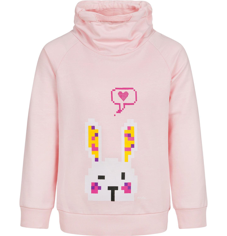 Endo - Bluza z zającem dla dziewczynki, różowa, 2-8 lat D04C029_1