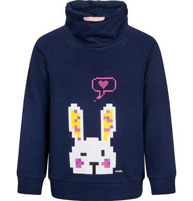 Bluza z zającem dla dziewczynki, granatowa, 2-8 lat D04C029_2