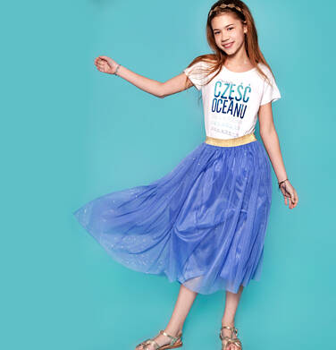 Endo - Długa tiulowa spódnica dla dziewczynki 9-13 lat D91J520_2