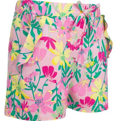 Endo - Krótkie spodenki dla dziewczynki, deseń w kwiaty, 2-8 lat D03K058_1 24