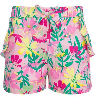 Endo - Krótkie spodenki dla dziewczynki, deseń w kwiaty, 9-13 lat D03K558_1 208