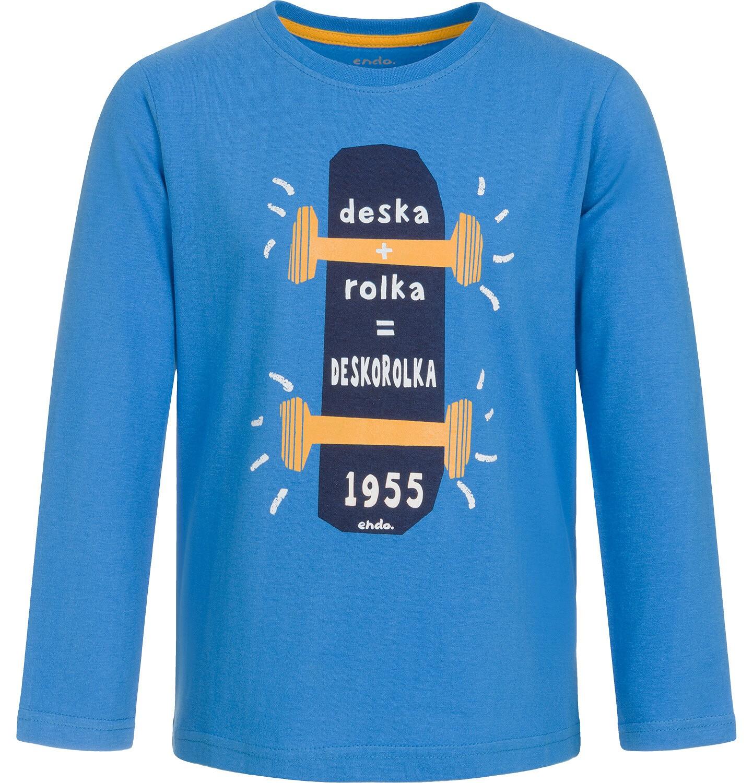 Endo - T-shirt z długim rękawem dla chłopca 3-8 lat C92G118_1