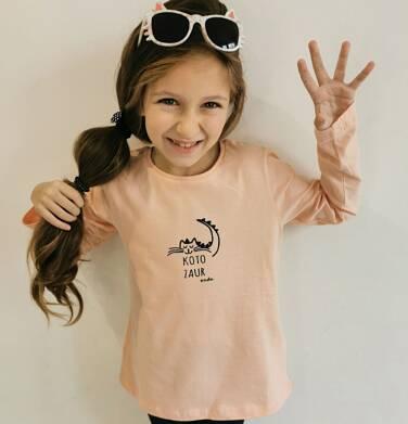 Endo - Bluzka z długim rękawem dla dziewczynki, z kotozaurem, 2-8 lat D04G100_2 92