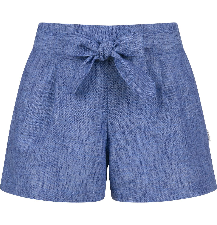 Endo - Krótkie spodenki dla dziewczynki, z ozdobnym paskiem, niebieskie, 2-8 lat D03K061_1