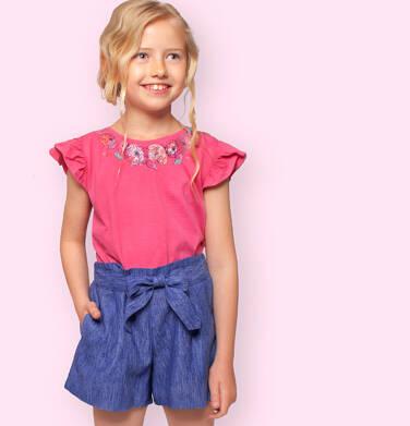 Endo - Krótkie spodenki dla dziewczynki, z ozdobnym paskiem, niebieskie, 2-8 lat D03K061_1 21
