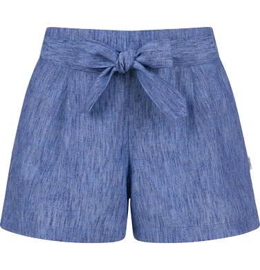 Endo - Krótkie spodenki dla dziewczynki, z ozdobnym paskiem, niebieskie, 9-13 lat D03K561_1 206