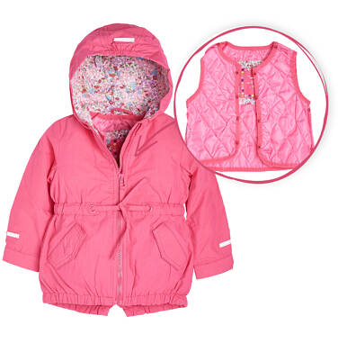 Endo - Parka z odpinaną kamizelką dla dziewczynki 1-3 lata N81A008_1
