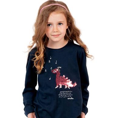 Endo - Bluzka z długim rękawem dla dziewczynki, z dinozaurem, 2-8 lat D04G111_1 16