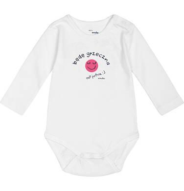 """Endo - """"Będę grzeczna od jutra"""" Body dla niemowlaka 3-24 m-ce N82M040_1"""