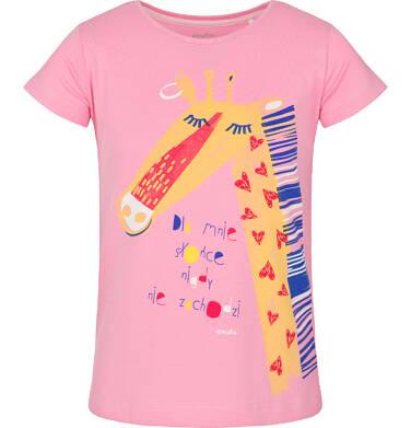 T-shirt z krótkim rękawem dla dziewczynki 9-13 lat D91G602_1