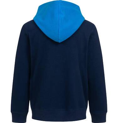 Endo - Rozpinana bluza z kapturem dla chłopca, z rowerem i napisem, granatowa, 9-13 lat C05C031_1,3