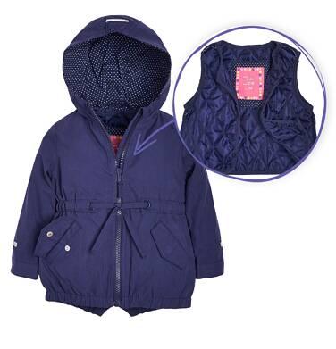 Endo - Parka z odpinaną kamizelką dla dziewczynki 1-3 lata N81A009_1