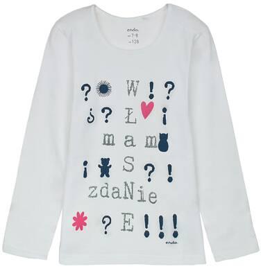 Endo - Bluzka z długim rękawem dla dziewczynki 3-8 lat D62G089_2