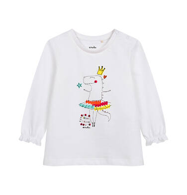 Endo - Bluzka z długim rękawem dla dziecka do 2 lat, różówa N04G024_1 2
