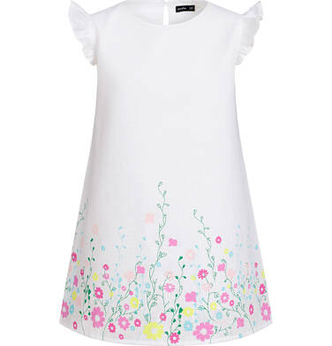 Endo - Sukienka z krótkim rękawem, kwiatowy motyw, biała, 2-8 lat D03H025_1