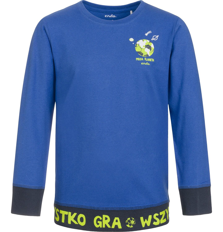 Endo - T-shirt z długim rękawem dla chłopca, wszystko gra, niebieski, 3-8 lat C92G031_1