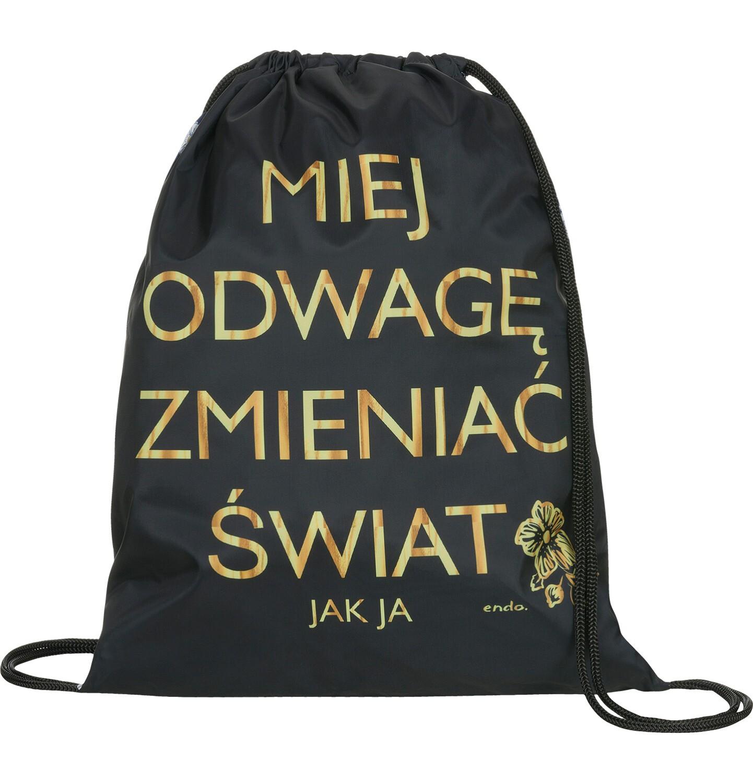 Endo - Plecak - worek, miej odwagę zmieniać świat SD92G010_1