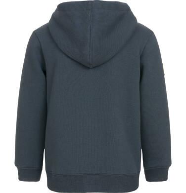 Endo - Rozpinana bluza z kapturem dla chłopca, welurowa, czarna, 3-8 lat C92C026_1,2