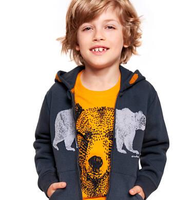 Endo - Rozpinana bluza z kapturem dla chłopca 3-8 lat C92C026_1