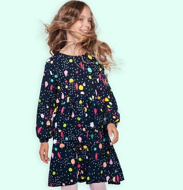 Endo - Sukienka z długim rękawem, kolorowy deseń, granatowa, 9-13 lat D03H561_1 11