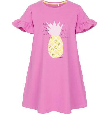 Sukienka z krótkim rękawem dla dziewczynki 9-13 lat D91H519_1