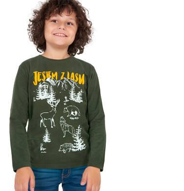 Endo - T-shirt z długim rękawem dla chłopca, leśny motyw, 9-13 lat C04G070_1 13