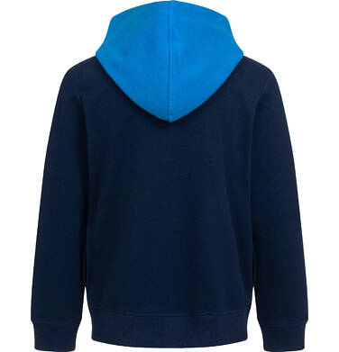 Endo - Rozpinana bluza z kapturem dla chłopca, z rowerem i napisem, granatowa, 2-8 lat C05C032_1,3