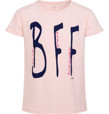 Endo - Bluzka z krótkim rękawem dla dziewczynki, z napisem best friend forever, różowa, 9-13 lat D06G507_1 21