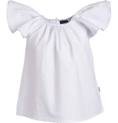Endo - Batystowa bluzka z krótkim rękawem dla dziewczynki 3-8 lat D81G108_2