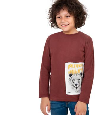Endo - T-shirt z długim rękawem dla chłopca, bordowy, 9-13 lat C04G078_1 8