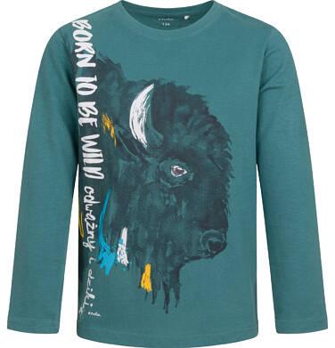 Endo - T-shirt z długim rękawem dla chłopca, z żubrem, 9-13 lat C04G084_1 6