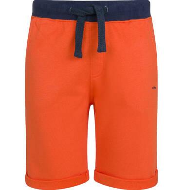 Krótkie spodenki dresowe dla chłopca, pomarańczowe, 9-13 lat C03K520_2