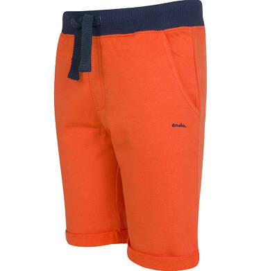 Endo - Krótkie spodenki dresowe dla chłopca, pomarańczowe, 9-13 lat C03K520_2